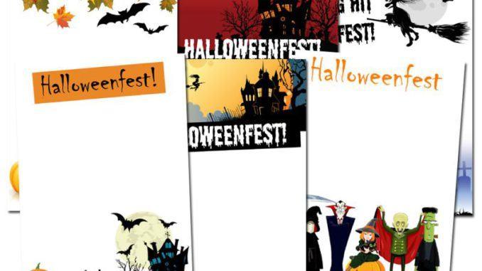 Inbjudningskort Halloweenfest