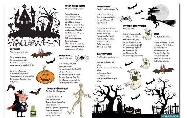 halloweenfest sångblad