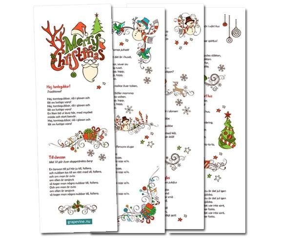 sånghäfte jul snapsvisor