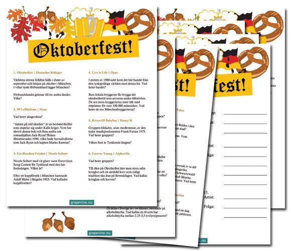oktoberfest quiz