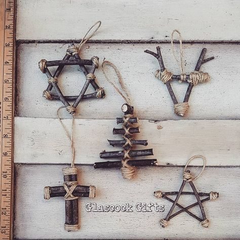 Our-mixed-5-Primitive-Ornaments-great-for-primitive-rustic-or-woodland-trees_-glascockgifts-primitive-primitivechristmas-rustic-rusticchristmas-ornaments-handmade-handmadechristmas-1-1