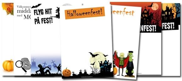 halloweenfest inbjudningskort skriva ut